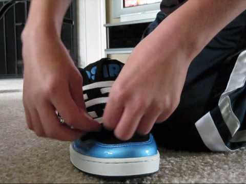 A vid on how to lace your shoes the cool way just for school.