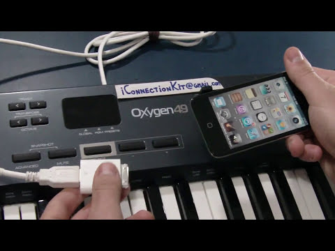 [Camera Connection Kit] Oxygen49 USB MIDI Controller on iPod Touch 4g / iPhone