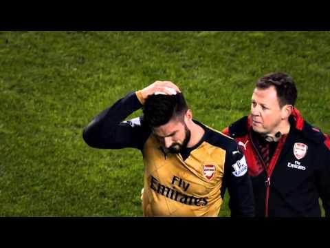 Joel Campbell &  Olivier Giroud vs Liverpool (A) 13/01/2016