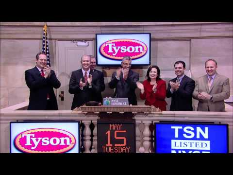Tyson Foods Celebrates 15 Years of Trading