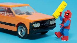 Lego Spiderman Building Experimental Car For Kids Nostalgic Vehicle