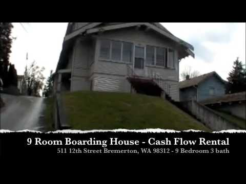 Water View Bremerton 9 Room Boarding House Cash Flow Rental
