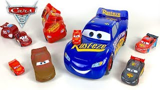 COLLECTION OF LIGHTNING MCQUEEN VEHICLES FROM MINI CARS TO THE BIGGEST