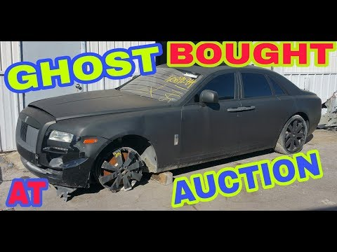 Bought a wrecked Rolls Royce Ghost on Copart  (unbelievable)