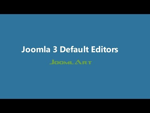Joomla 3 Video tutorials - Joomla Default Editor
