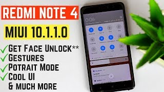 Redmi Note 4 Stable MIUI 10.1.1.0 Update [No ROOT] | Potrait mode & Gestures