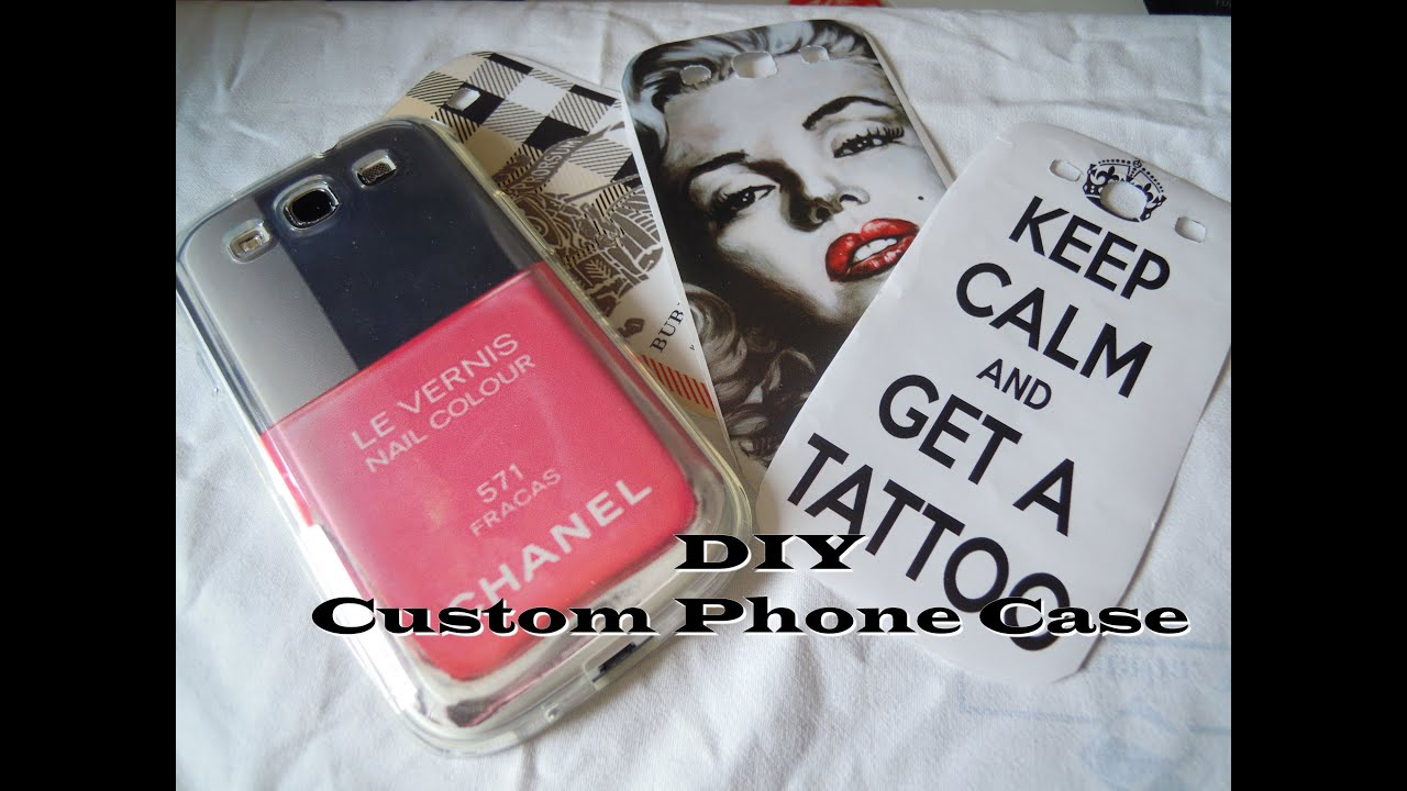 Diy phone case customized for iphone galaxy s3 youtube for Diy custom phone case
