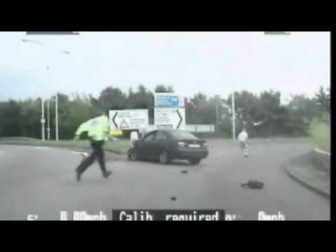 Hero cop relives terrifying stolen car smash