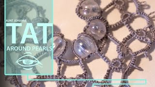 Tatting around a large bead   tutorial