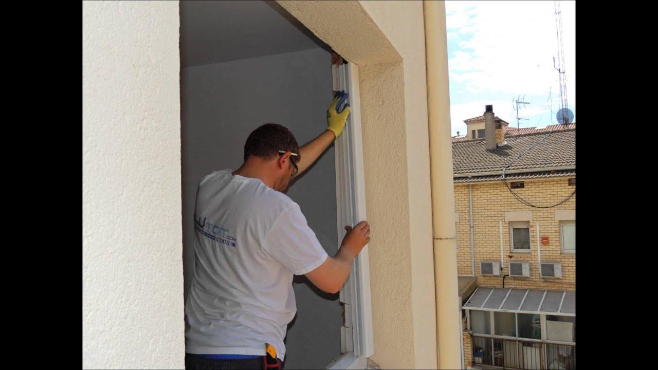 Instalar una ventana de aluminio sin obra youtube for Como poner una puerta de madera