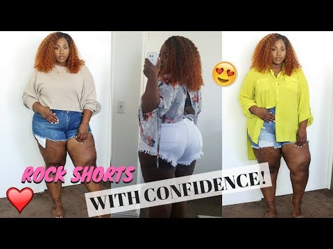DIMPLES, CELLULITE? PLUS SIZE & WEARING SHORTS! 5 TIPS THAT HELPED ME!   FT. POSHMARK