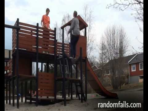 Back Flip Off A Playground Fail video