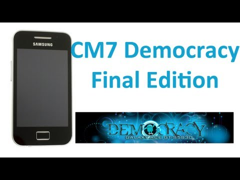 Cyanogenmod 7.2 Democracy Final Edition Galaxy Ace (Español)