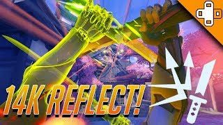 OMG! 14K DAMAGE IN 1 GENJI REFLECT? Overwatch Funny & Epic Moments 424