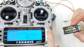 How to bind FrSky V8FR-II to Taranis X9D