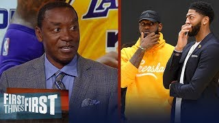 Lakers had 2 great summers adding LeBron and AD - Isiah Thomas | NBA | FIRST THINGS FIRST