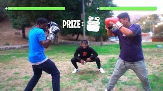 I Setup a Boxing Tournament for AirPods at School! SOMEONE GOT KNOCKED OUT!?!