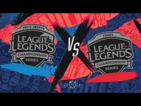 NA vs EU Full Series Highlights ALL GAMES   Rift Rivals 2018 Finals