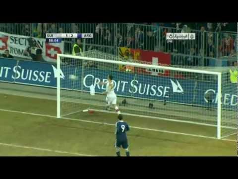 اهداف الارجنتين 3-1 سويسرا 29-02-2012 | Argentina Vs Switzerland 3-1