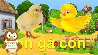 Dạy bé học các con vật Tiếng Việt | tiếng kêu con mèo con gà con