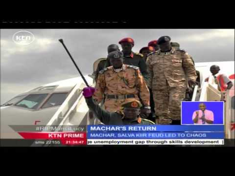 South Sudanese ex-rebel leader Riek Machar sworn in as first Vice President