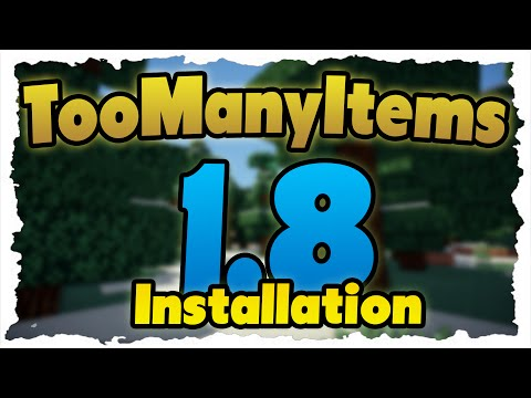 Minecraft TooManyItems Mod — Installation auf 1. 8! & Neue Funktionen gezeigt!