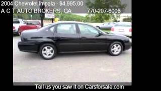 2004 Chevrolet Impala LS 4dr Sedan for sale in Monroe, GA 30