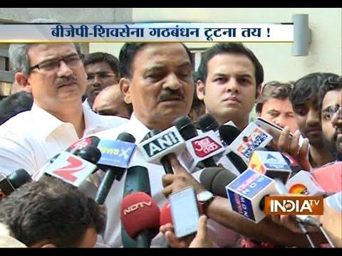 Shiv Sena leader Diwakar Raote addressing Media Live on BJP alliance with Sena