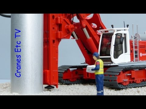 Cranes Etc TV: NZG Liebherr LB 28 Drilling Rig 'Soletanche Bachy' Review