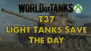 Light tanks save the day - T37 Gameplay - WoT Xbox One