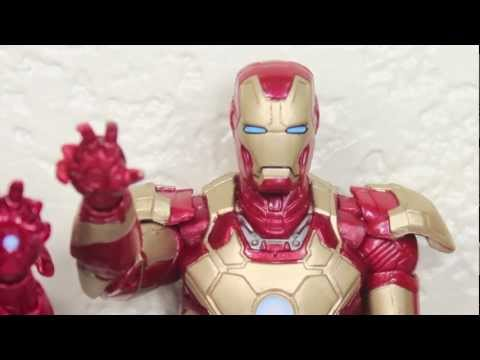 Iron Man 3 Marvel Legends Mark XLII Iron Man Iron Monger Build A Figure Wave Figure Review
