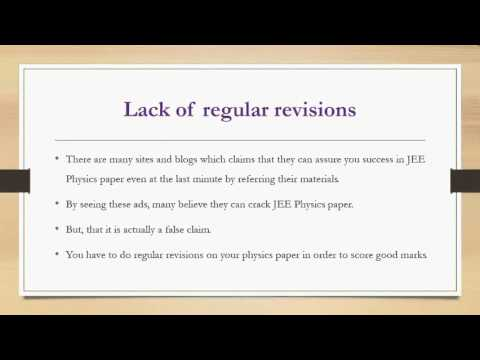 Mistakes While Preparing for IIT JEE Physics Paper