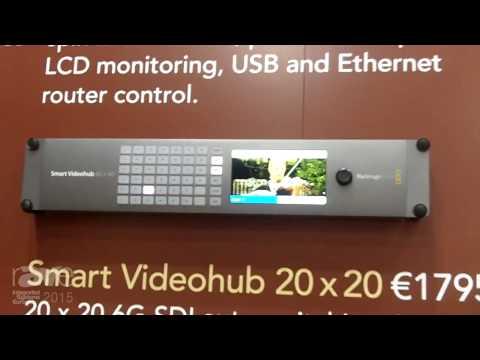 ISE 2015: Blackmagic Design Introduces Smart Videohubs 20×20