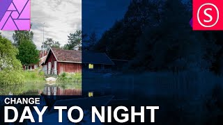 Affinity Photo - Change Day to Night - Tutorial
