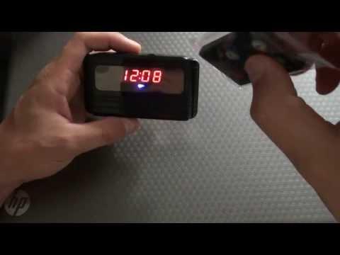 обзор настольных часов с скрытой камерой 720р