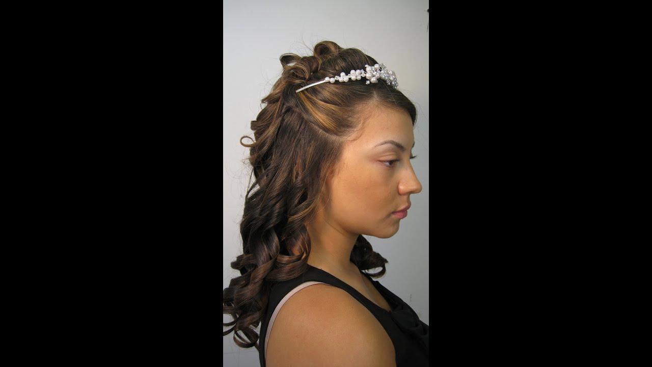 Peinado para novia medio recogido youtube - Peinados de novia recogido ...