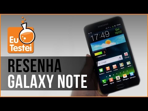 Phablet Samsung Galaxy Note GT-N7000 - Resenha Brasil