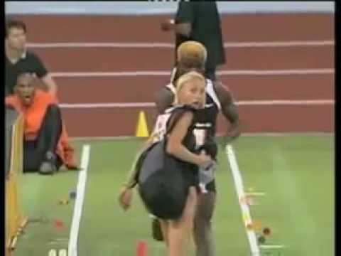 Runner runs into girl