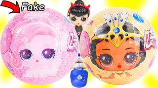 FAKE VS REAL LOL Surprise Dolls Opening Box | Toy Egg Videos
