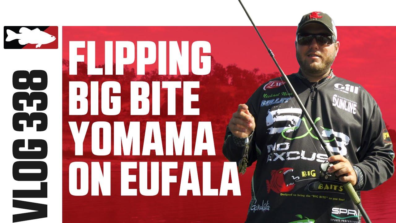Flipping the Big Bite Baits Yomama on Lake Eufaula with FLW Pro Michael Neal