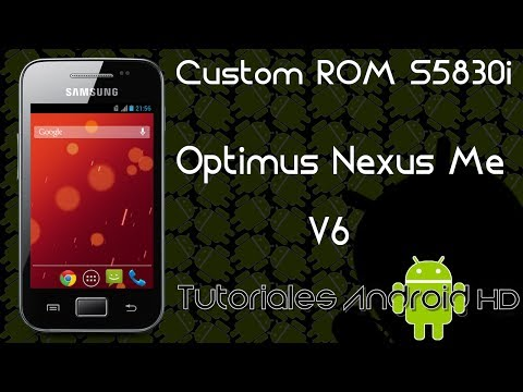 Tutorial Optimus Nexus Me v6 ROM 99% ESTABLE Estilo Pure Android KitKat [Galaxy Ace s5830i-m-c-39i]