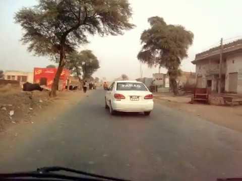 A drive on Faisalabad Road near Okara - AmjadsVillage Gogera Gugera Punjab Pakistan