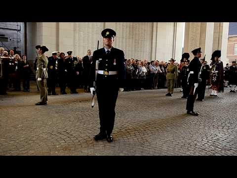 Anzac Day 2013, Menin Gate Ypres, Belgium.  (Abide with me).