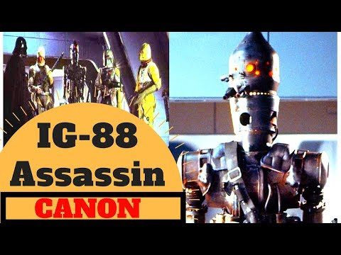 THE  COMPLETE CANON LIFE OF.... IG-88 Assassin Droid Lore - Star Wars Canon  Legends Explained