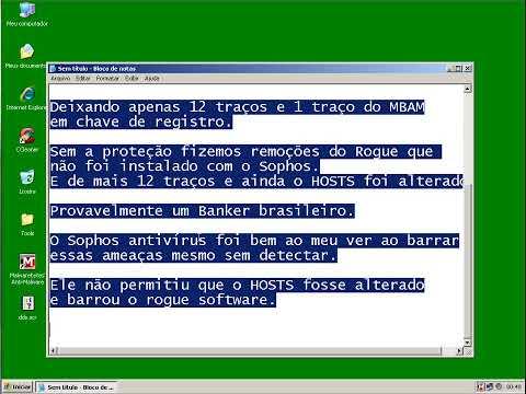 Sophos Endpoint Security 9.7 - VS 248 Malwares VS 10 ameaças não detectadas aleatórias.
