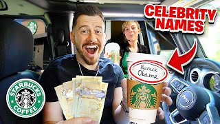 Tipping Starbucks Employees $1000 If They Spell Celebrity Names Right!!