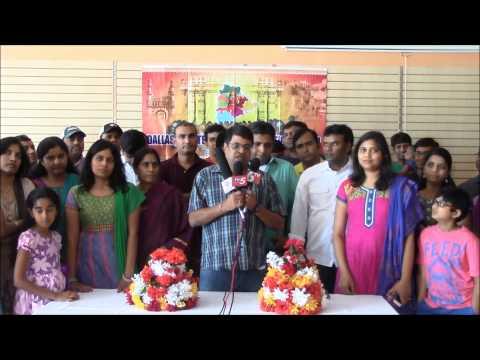 Raghuveer Reddy speaking about DATA Dasara Bathukamma 2014 at kickoff meeting