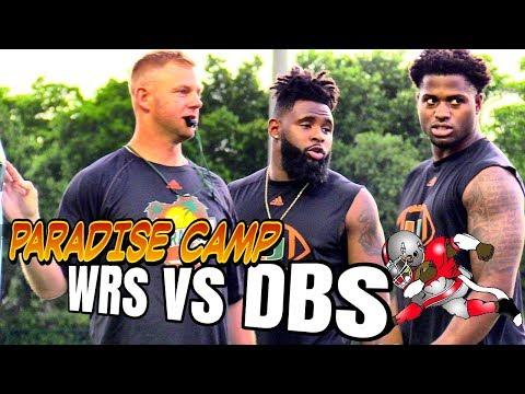 Caneville | WRs vs DBs | Mark Richt Paradise Camp | 1 on 1s | 2018