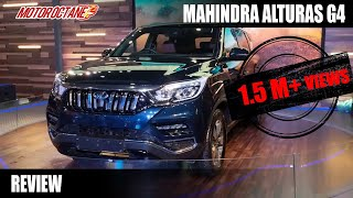Mahindra XUV 700 Review - Mahindra Alturas G4 Hindi | Auto Expo 2018 | MotorOctane