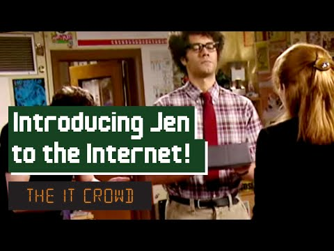 Moss Introduces Jen To The Internet | The IT Crowd Series 3 Episode 4: The Internet